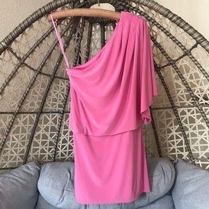 Jessica Simpson One Shoulder Mini Dress - Pink